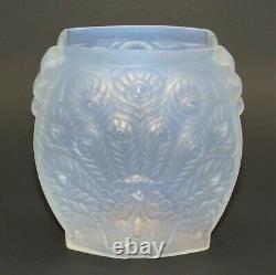 Art Déco Etling Vase De Paon Opalescent Signé/labeled Vers 1930 Lalique Sabino Era