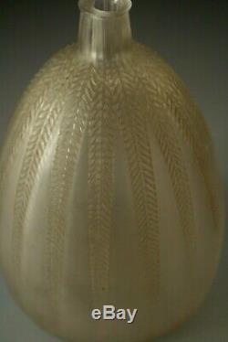 Art Deco Lalique Vase En Verre Mimosa Vers 1921