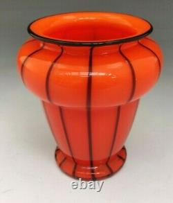 Art Déco Loetz Verre Tango Vase Attribué À Michael Powolny Autrichien C1920