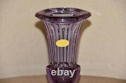 Art Déco Moser Alexandrite Néodyme Cristal Trompette Art Glass Vase