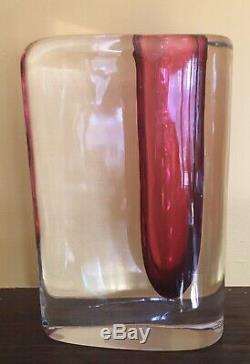 Art En Verre De Murano Cenedese Vase Signé