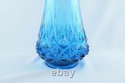 Art Vintage Blue Glass 22 Le Smith Milieu Du Siècle Moderne Balancé Vase Tirée