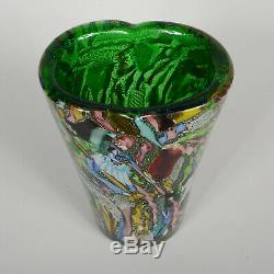 Avem Tutti Frutti Vase En Verre De Murano Milieu Du Siècle Art