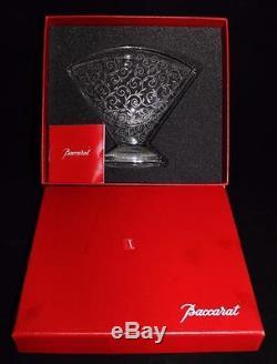 Baccarat Vintage Cristal Art Déco Rendezvous Grand Vase Eventail, Mib, 6 X 7, Coa