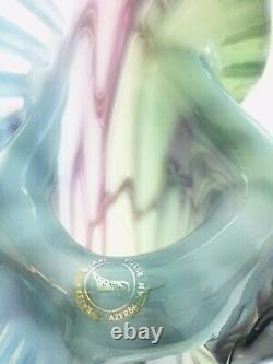 Baijan Art Glass 17 Vase Jack Dans La Chaire Prple Bleu Vert