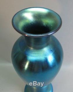 Beaux 13 Steuben Bleu Aurene Art Glass Vase Shape 275 C. Déco Antique Des Années 1930