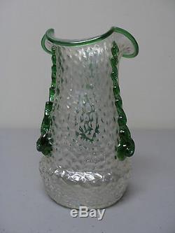 Belle Antique Kralik Bohemian Art Art Nouveau Verre Vase, C 1900