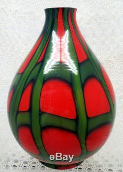 Belle Art Déco Kralik Tchèque Tango Motif Boule En Forme De Vase En Verre Art Des Années 1920