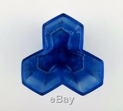 Bertil Vallien, Kosta Boda, Vase Mosaïque D'art En Verre Bleu