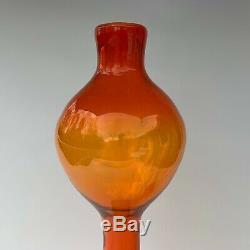 Blenko Architectural Decanter No. 588 Tangerine Art Glass (vase Amberina Rocket)