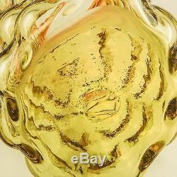 Blenko Art Glass Vase Amberina Bubble Par Iconic Designer Wayne Husted, C. 1960