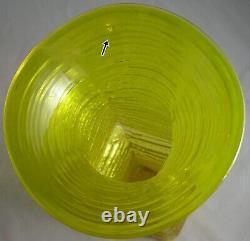 Blenko Wayne Husted Jaune Texturé Art Vase De Verre MI Siècle Moderne 12 1/2