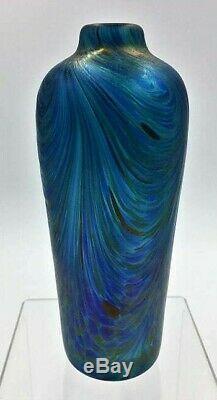 Bohême Loetz Era Peacock Iridescent Art Nouveau Vase En Verre Ca. 1901