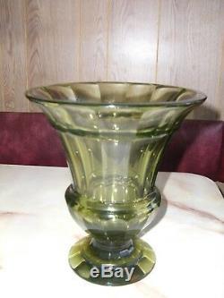 Bohême Moser Grand Art Déco Vase Wiener Werkstätte Par Josef Hoffman Années 1920 Ca