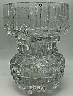 Brutalist MID Century Art Moderne Vase En Verre Tapio Wirkkala Pour Iittala Finlande
