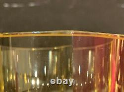 Circa Moser Art Déco Faceted Octagonal Glass Yellow Vase Circa Moser Art Déco Faceted Octagonal Glass Yellow Vase Circa Moser Art Déco Faceted Octagonal Glass Yellow Vase Circa Moser Art