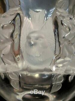 Cristal Lalique Paris Oiseaux Vase Et Dampierre Bol Vignes France Verre D'art