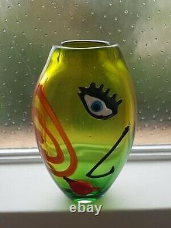 Cristalleria Stile D'arte Murano Sculpture En Verre Picasso Cubiste Vase Venini