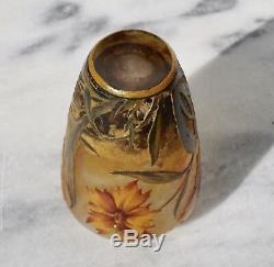 Daum Nancy Vase Émaillé Art Nouveau En Camée