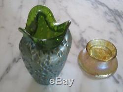 Deux Loetz Art Glass Cabinet Vases (diaspora / Papillon)