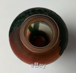 Devez Français Cameo Art Glass Vase Signe Montagnes Arbres Lac Scenic