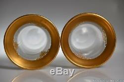 Dorflinger No. 836 10 H Paire De Vases Withhonesdale Attr. Acidé Art Glass