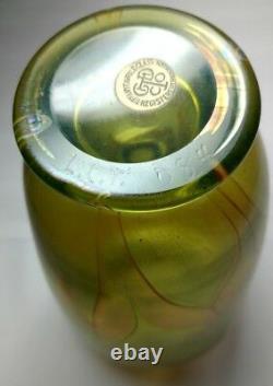 Early Tiffany Favrile Decorated Art Glass Vase, Art Nouveau, Plumes Tirées