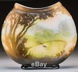 Emile Galle Art Nouveau Français Pêcheur Cameo Vase