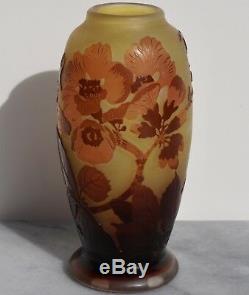 Emile Galle Vase De Camée Art Nouveau Cameo