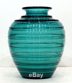 Énorme! 1930 1920 De Son Anciennes Daum Moderniste Art Deco Vase En Verre / Signe