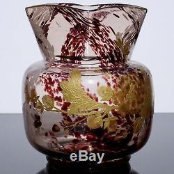 Ernest Baptiste Leveille Art Nouveau Vase Gilt Floral