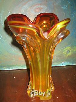 Étonnant Et Exquis Complexe-archimede Seguso Art Italien Vase En Verre