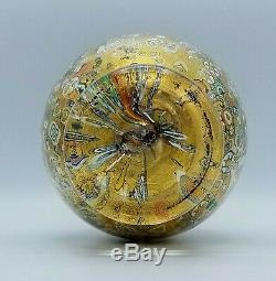 Étourdissant! Glass Studio Murano Signe Verre Art Gold Millefiori 12 Vase Italie