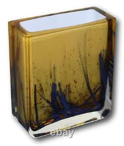Exbor Vase En Verre D'art 5 1/4 Tall Czech Verre Pavel Hlava Des Années 1960