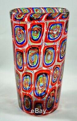 Fait Sur Mesure Murano Vase En Verre D'art Murrine Par Adriano Dalla Valentina