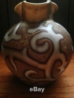 Federzeichnung Loetz Octopus Art Glass Vase Nacre Air Piège