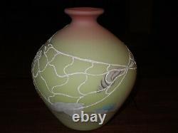 Fenton Art Glass Burma Sea Life Vase Limited Edition, 1985