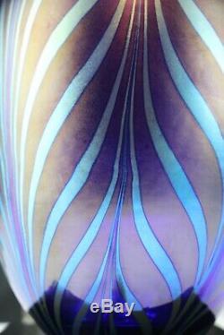 Fenton Art Glass Favrene Plumes Traîné Plume Dave Fetty Vase Usine