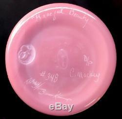 Fenton Art Glass Proof Designer Graceful Beauté Le Vert Birman Vase