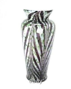 Fenton Dave Fetty Signé Art Glass Mellon Vase Exterior Glass Bubbles