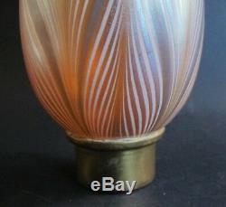 Fine 8 Abat-jour En Torchère En Verre Art Durand Bleu Et Or Antique, Env. Vase Lampe 1910
