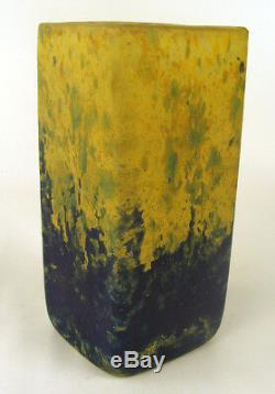 Fine Vase Art Déco Daum En Verre De Style Cameo