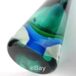 Flavio Poli Design Vase En Verre, Sculpture En Verre De Murano, Italie, Art Des Années 1950