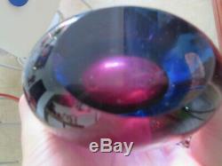 Flavio Poli Pour Sommerso Art Glass Vase Seguso 1950
