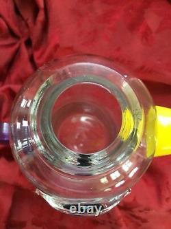 Flawless Exquise Kosta Boda Suède Verre Pitcher Carafe Vase Art Crystal Duck