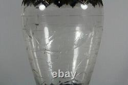 Gebruder Feix Persan Émail Bohemian Art Glass Vase C. 1900 Rare