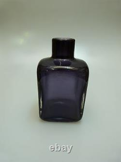 Glas Vase Venini Signiert Murano Italien Um 1950/60 Art Verre Italie Violet