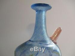 Grand Bertil Vallien Vase Signée Sculpture Pot Résumé Modernisme Kosta Boda