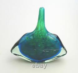 Grand Millésime Maltais Mdina Art Glass Fish Axe Head Vase M Harris Design C. 1980