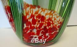 Grand Vase Art Cactus Saguaro En Verre Signé Beyers Et Labelé Orient & Flume 12 #